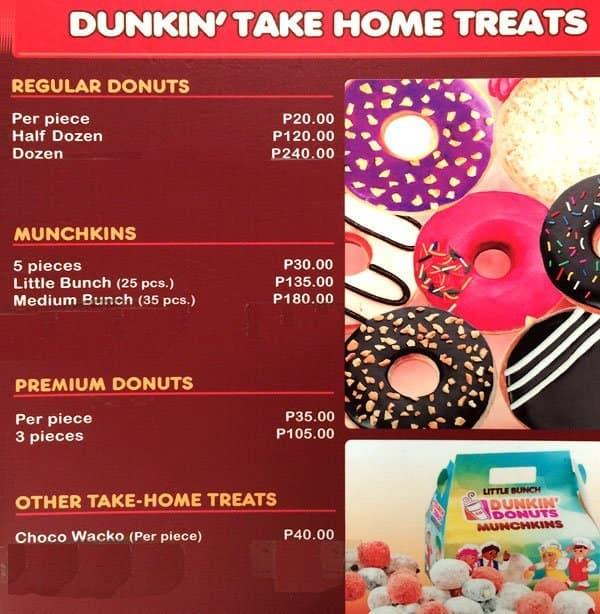 Dunkin Donuts Menu, Menu for Dunkin Donuts, Ibo, Lapu-Lapu ...