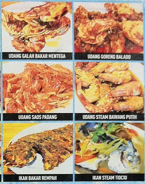 SF6 Seafood, Pluit Menu