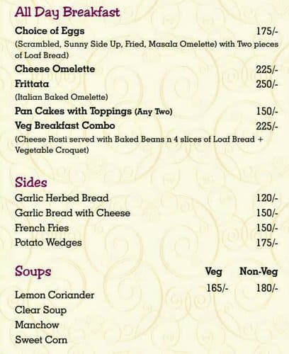Colonial Cafe Menu, Menu for Colonial Cafe, Sarabha Nagar, Ludhiana