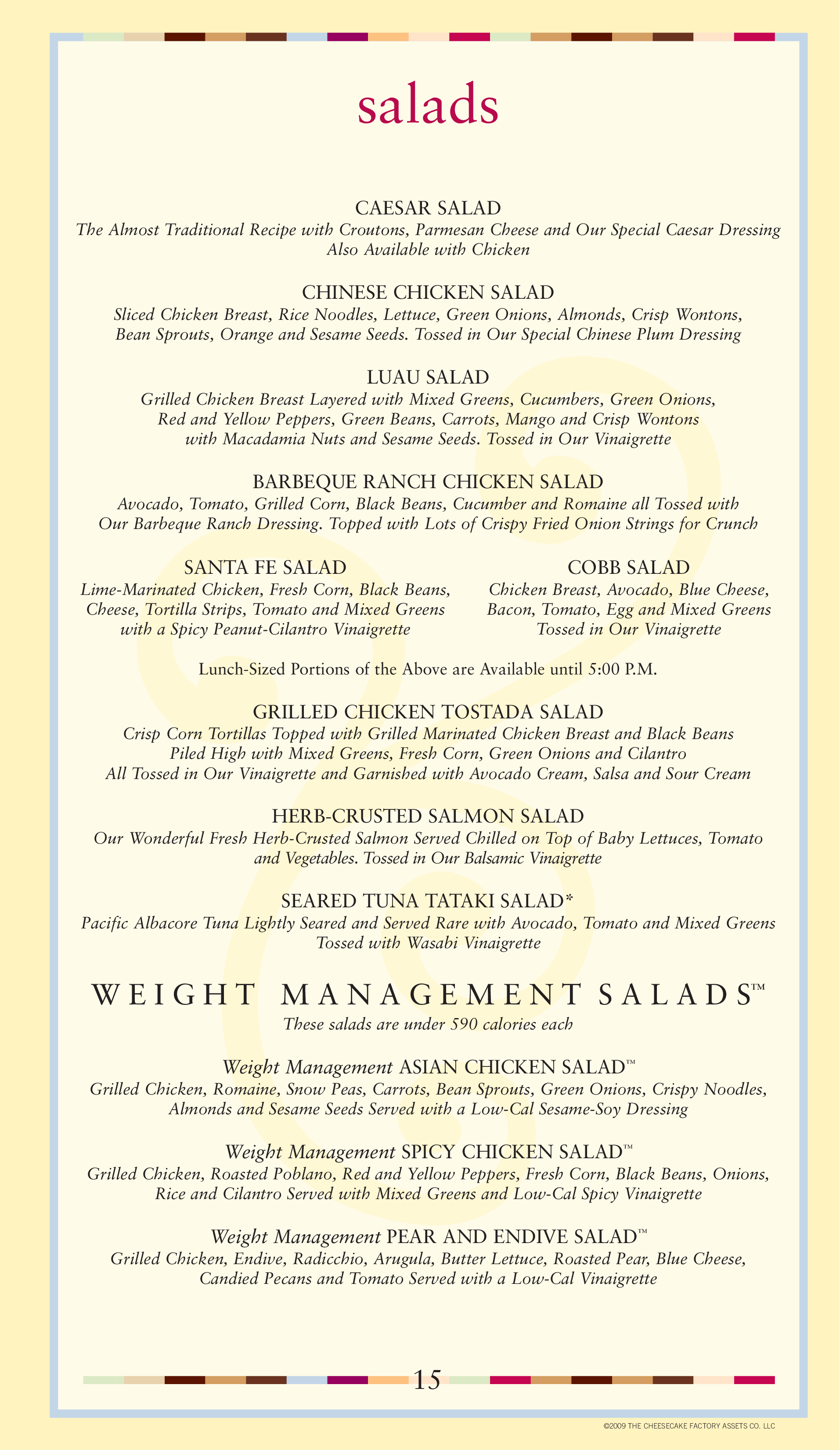 picture relating to Cheesecake Factory Printable Menu named Menu at The Cheesecake Manufacturing facility desserts, Jacksonville, Mid