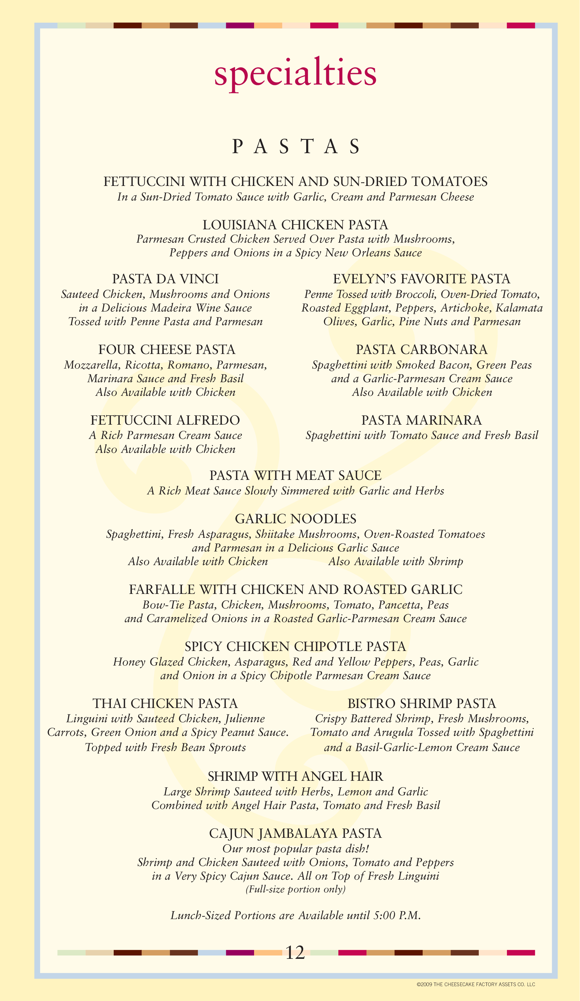 photograph relating to Cheesecake Factory Printable Menu referred to as Menu at The Cheesecake Manufacturing unit desserts, Jacksonville, Mid