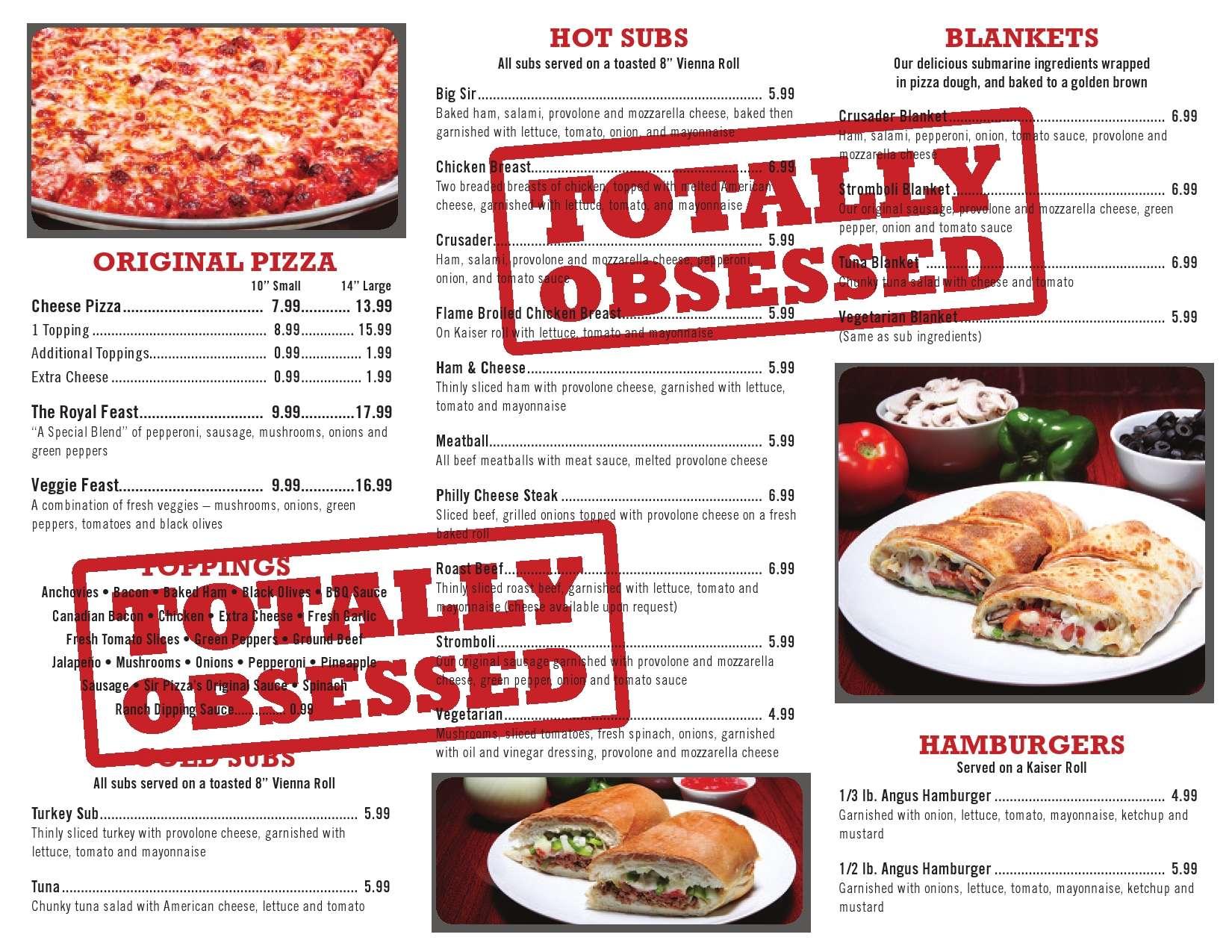 Sir Pizza Menu, Menu for Sir Pizza, Hialeah, Miami - Urbanspoon/Zomato