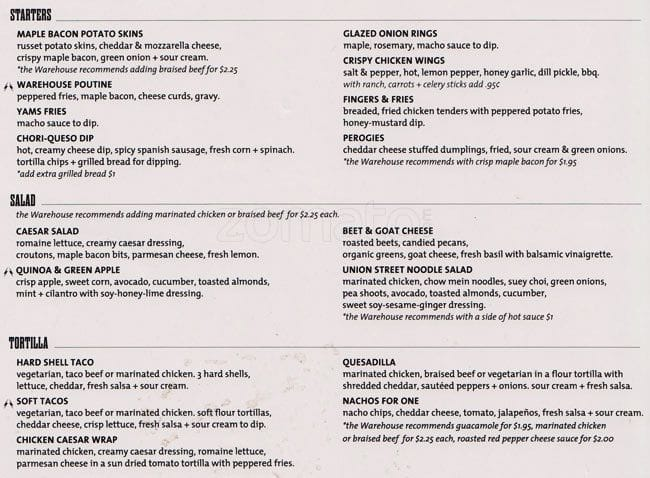 El Furniture Warehouse Menu, Menu for El Furniture Warehouse, ByWard Market, Ottawa - Urbanspoon ...