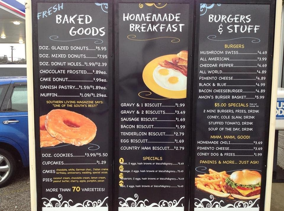 Amon's Sugar Shack Bakery Menu - Urbanspoon/Zomato