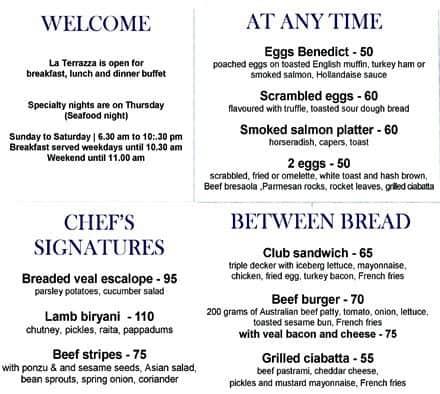 la terrazza menu - 28 images - la terrazza restaurant ta historic ...
