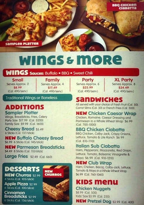Chuck E Cheeses Menu Menu for Chuck E Cheeses Oak Lawn