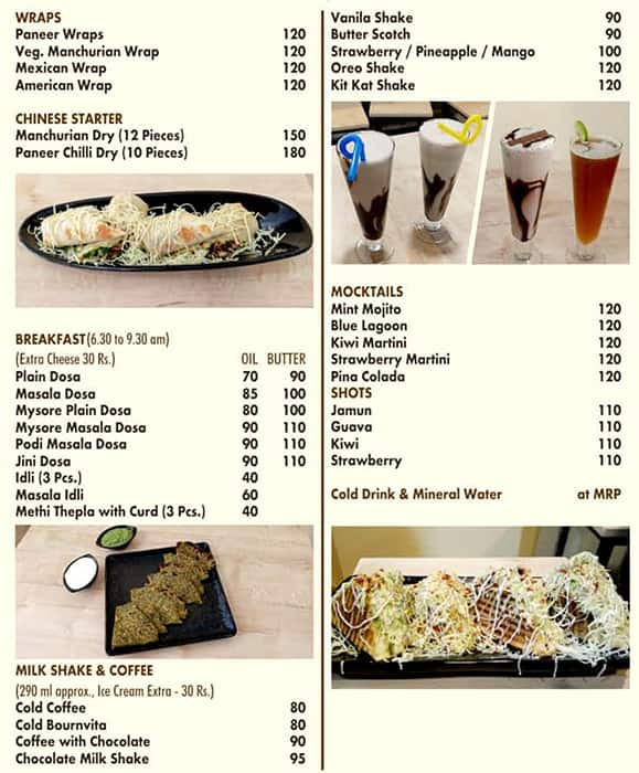 Vibrant Cafe & Food Court Menu - Zomato