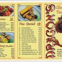 Dragons Chinese Food, Broadway Menu