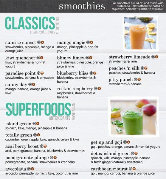 Tropical Smoothie Cafe Bellevue Menu