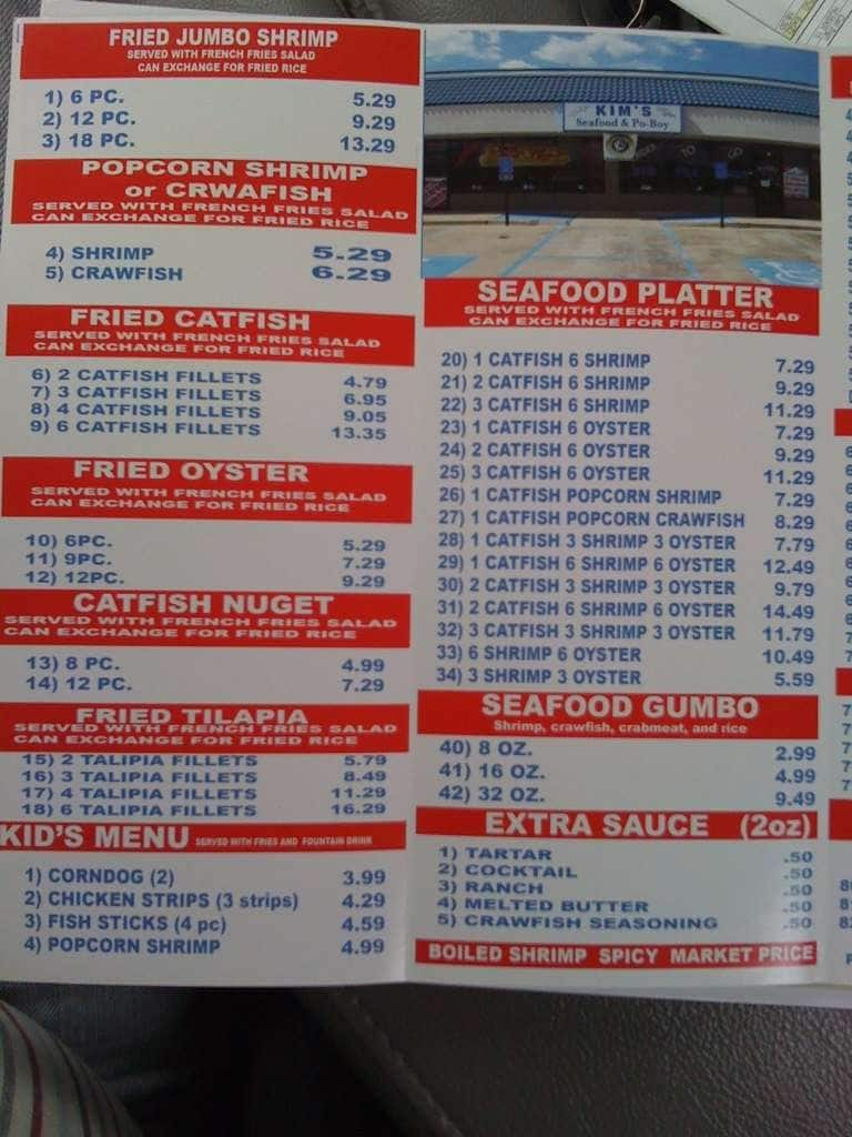 Kim S Seafood Bossier City La