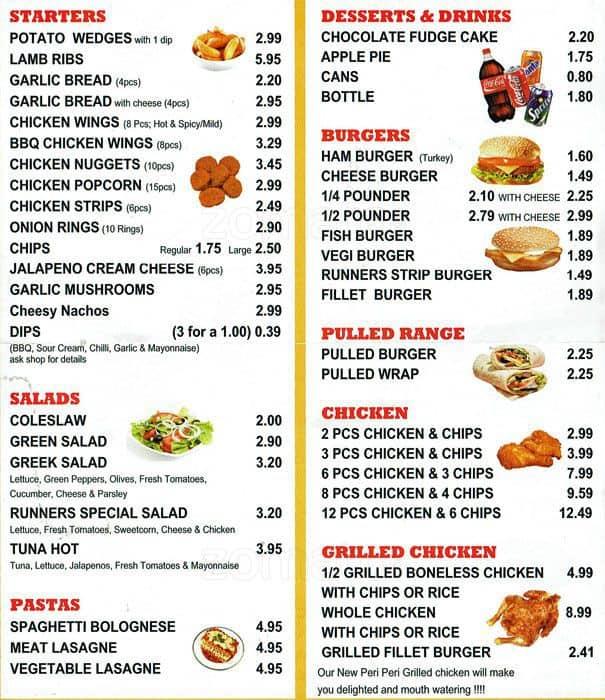 Runner In Fast Food