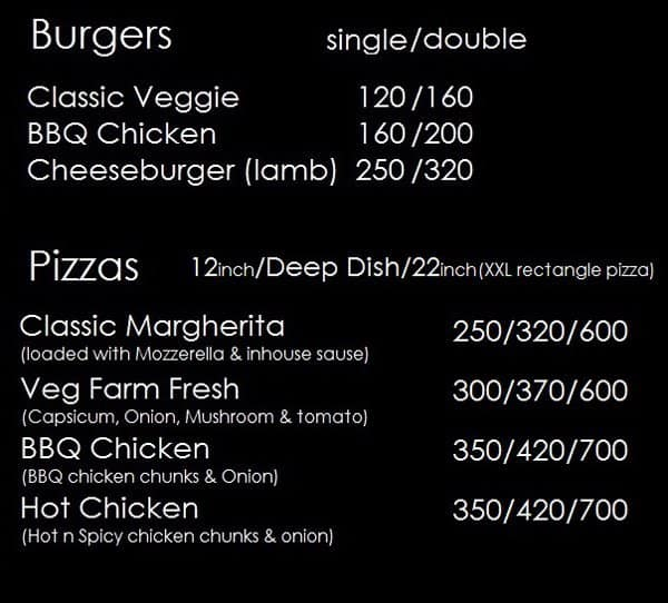 The Backyard Grill, Yelahanka Menu