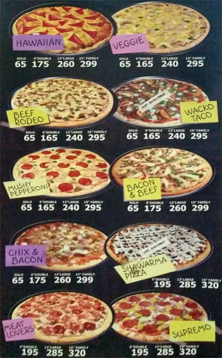 fat boyz pizza menu images