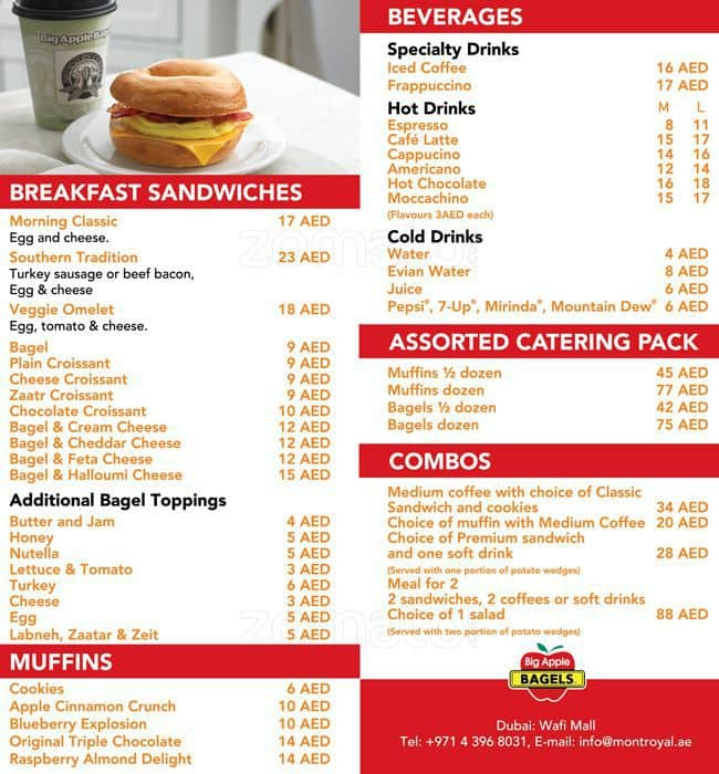 Big Apple Bagel Menu - More You Must To Know