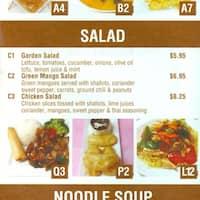 scanned menu for yummy garden - Yummy Garden Menu