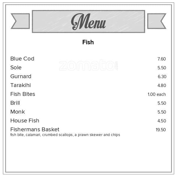 Hook up restaurant menu