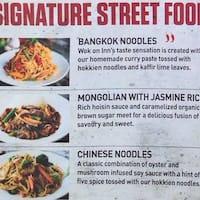 Scanned Menu For Wok On Inn Street Noodle Bar