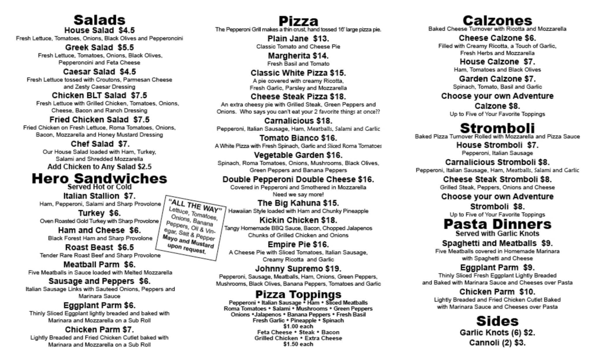 Sly image inside printable menus