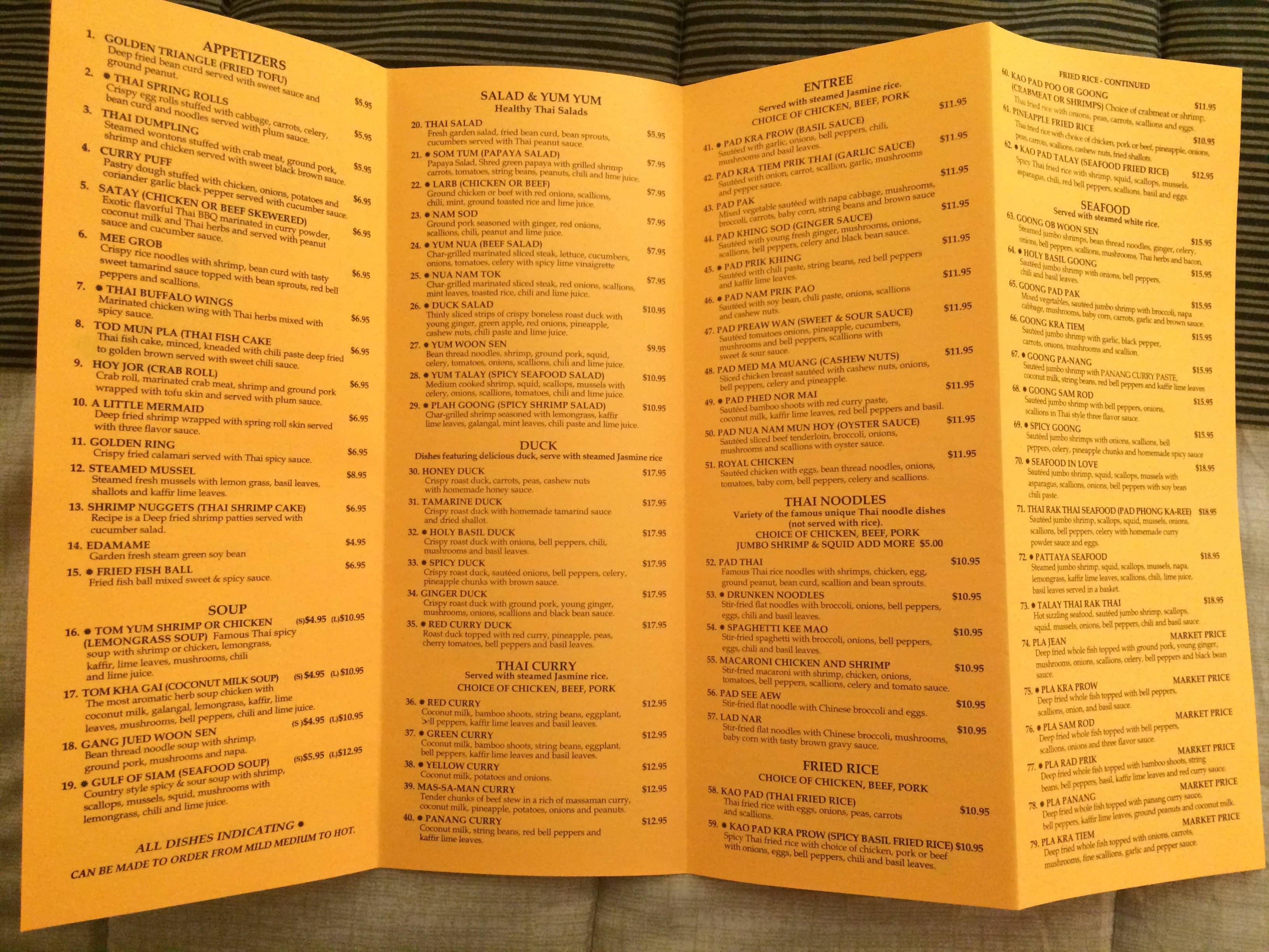 thai rak thai restaurant menu menu for thai rak thai restaurant