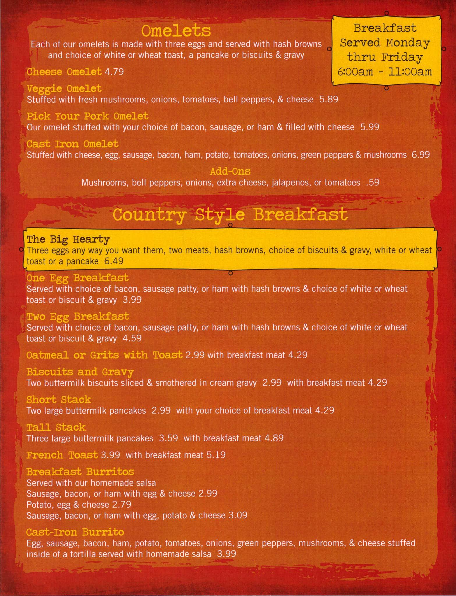 cast iron grill lubbock menu