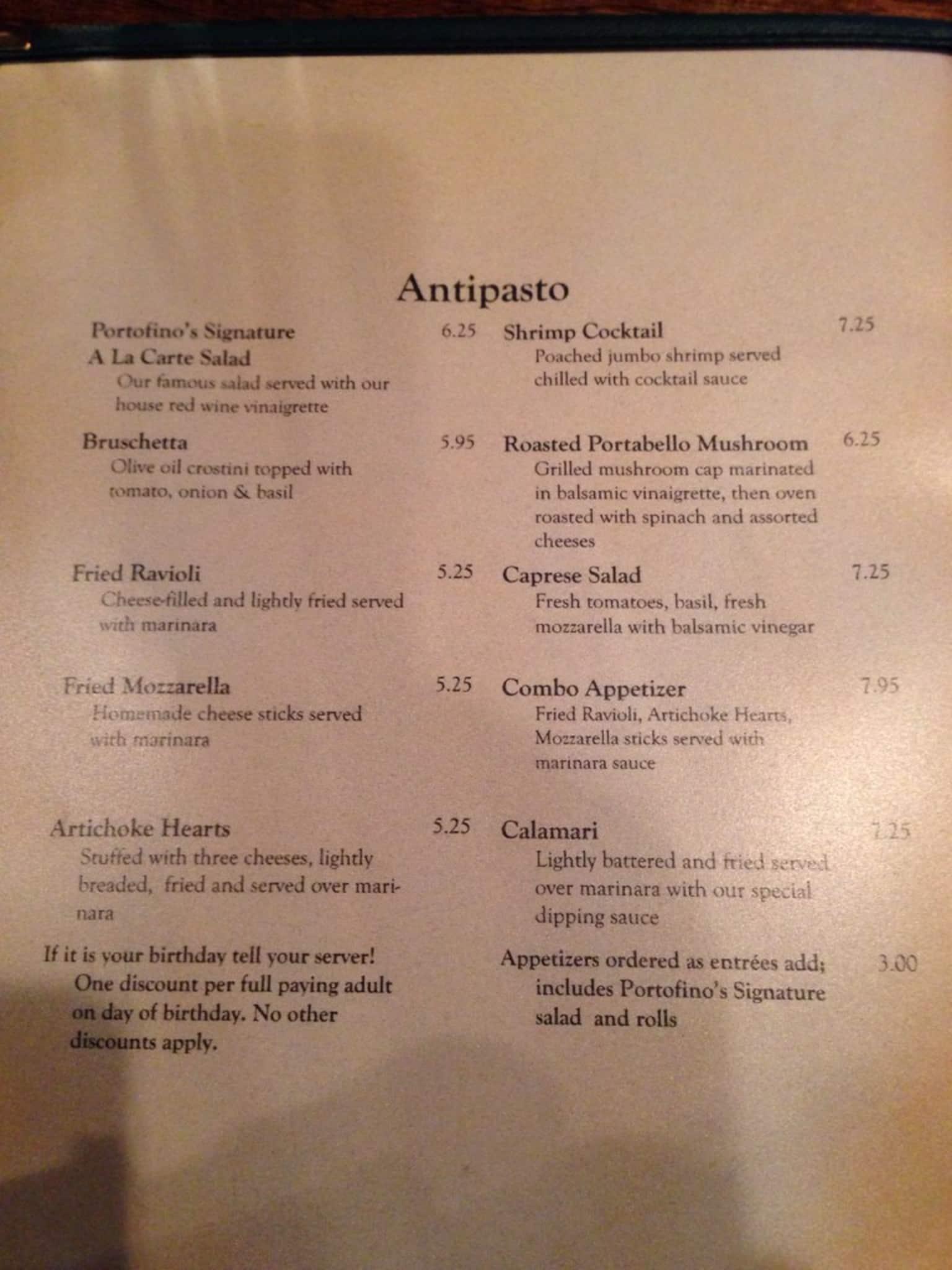 Portofinos Italian Restaurant