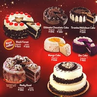 Red Ribbon Cakes List