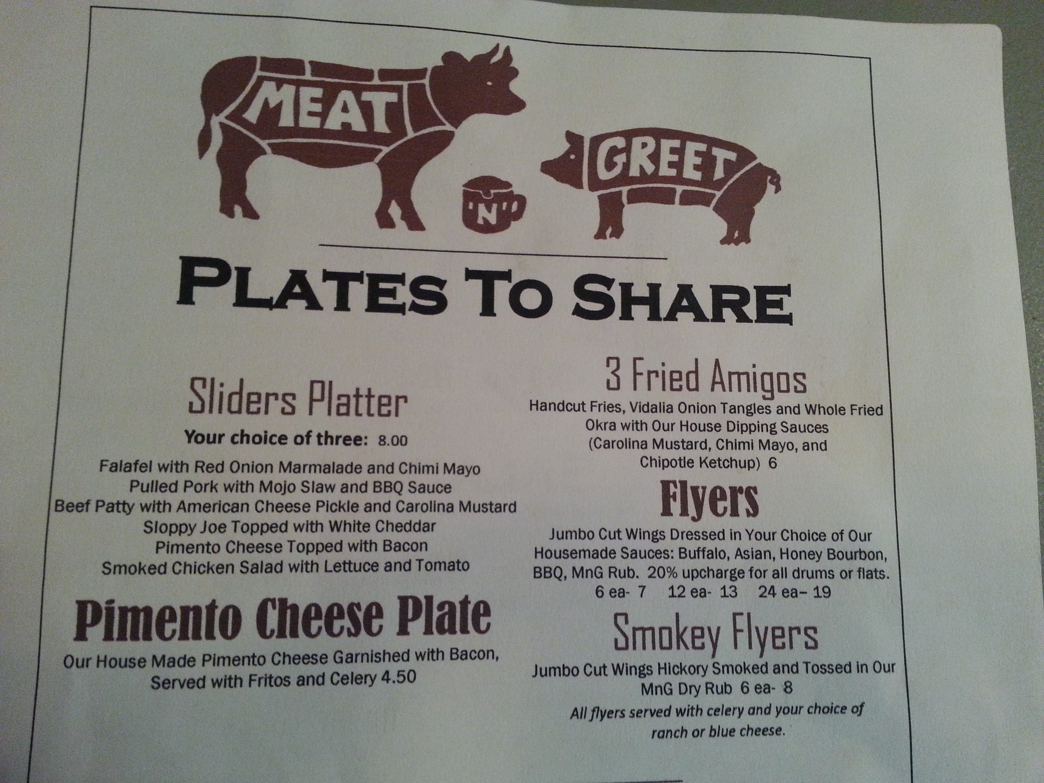 Menu At Meat N Greet Restaurant Newnan