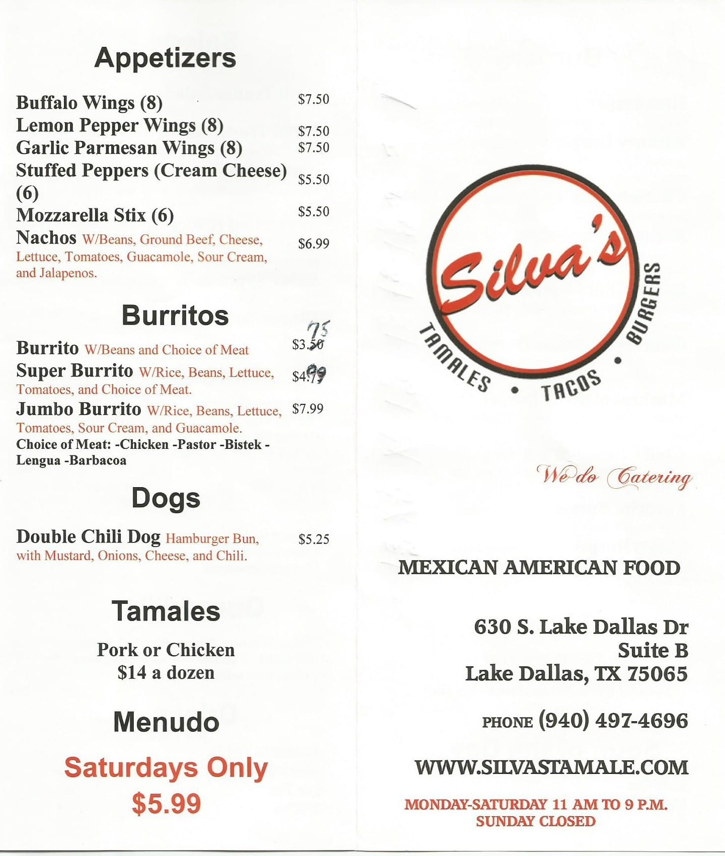 Menus Of Restaurants Nearby