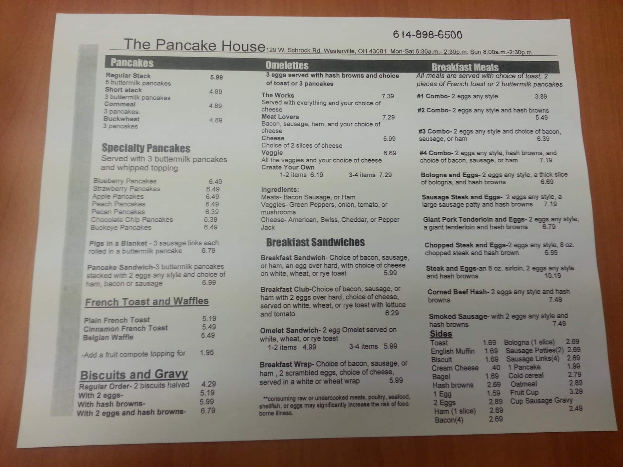 pancake house coupons westerville