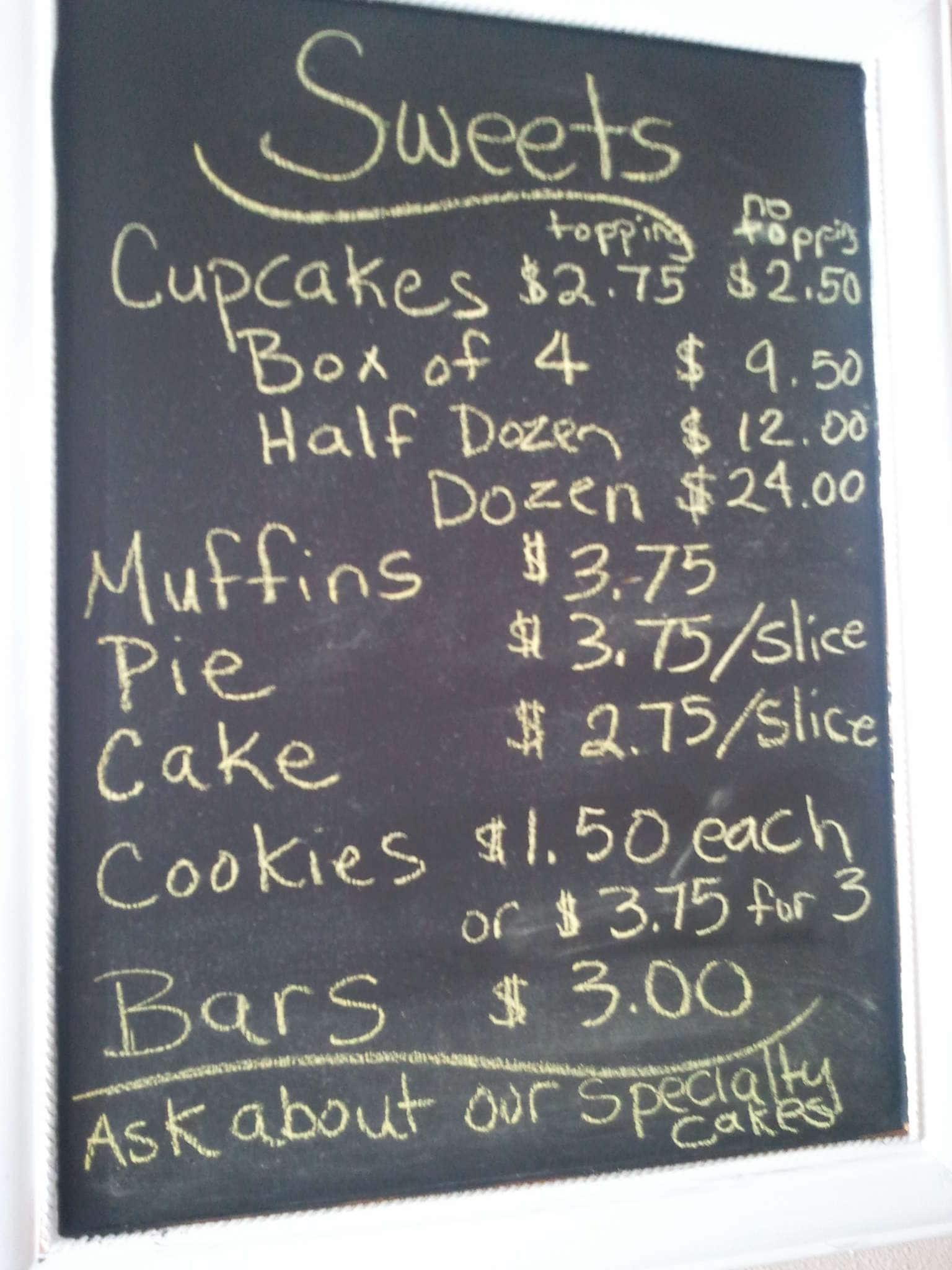 La Dolce Vita Bakery, Bryson City Menu