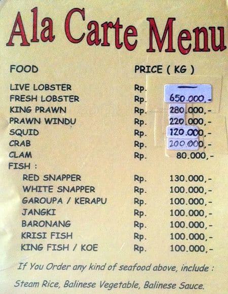nyoman cafe menu menu for nyoman cafe jimbaran bali zomato rh zomato com