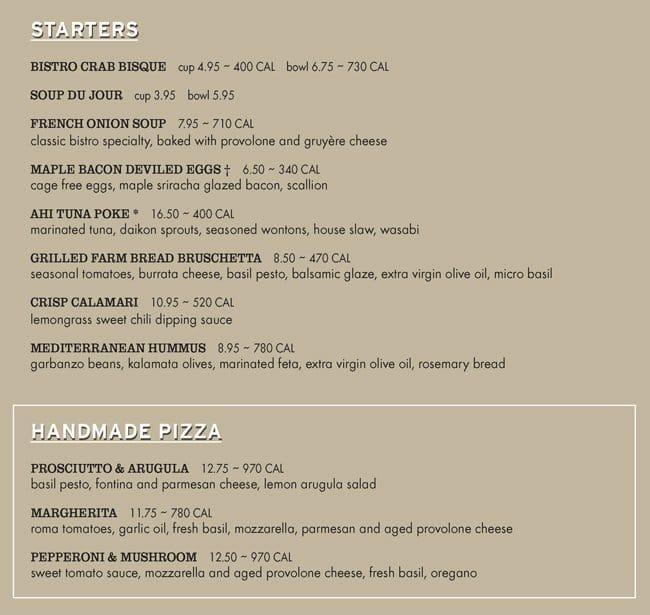 Nordstrom Cafe Dinner Menu