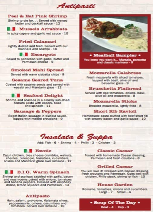 Cocoa Beach Restaurant Menus