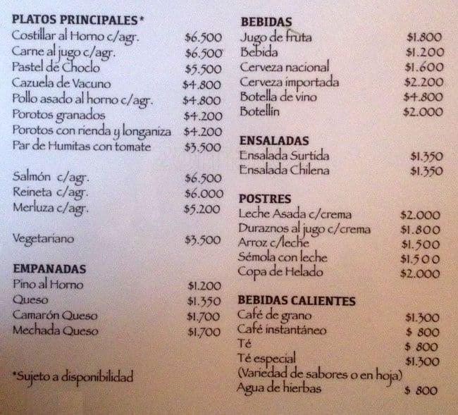 las vertientes menu menu for las vertientes san josé de maipo