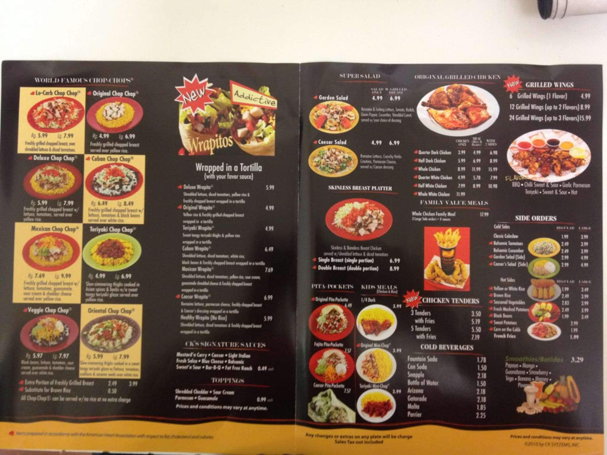 Chicken Kitchen chicken kitchen menu, menu for chicken kitchen, hialeah, miami