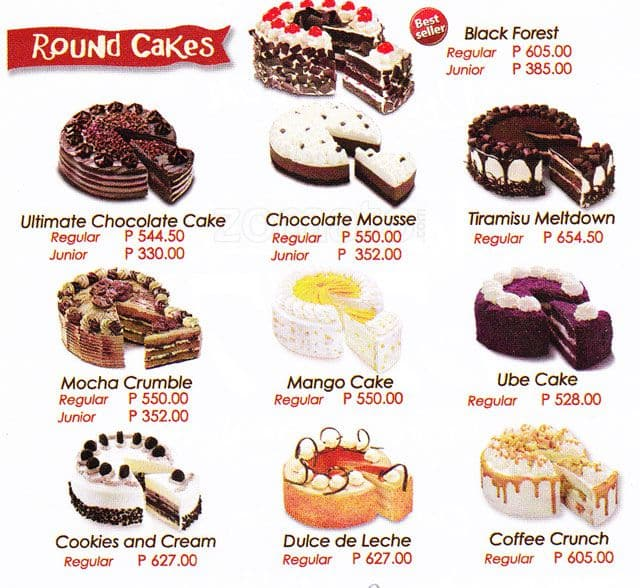 Red Ribbon Bake Shop Menu Menu For