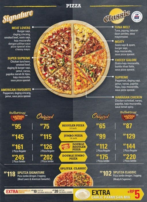 Dominos Pizza Menu Usa >> PHD Menu, Menu for PHD, Pasteur, Bandung - Zomato Indonesia