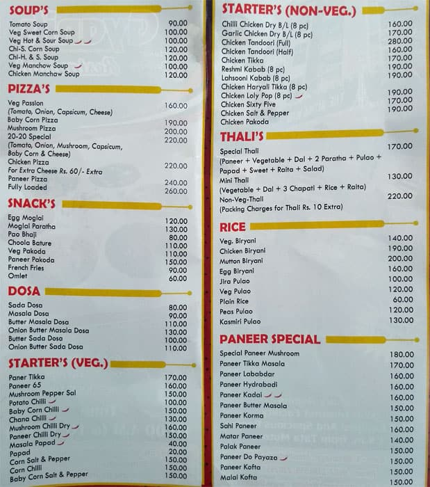 Gyani S Restaurant Menu Menu For Gyani S Restaurant Telco Colony Jamshedpur