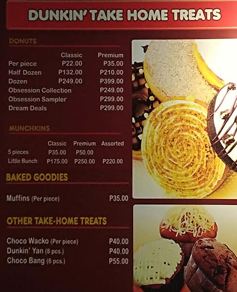 Dunkin Donuts Philippines Price List - The Cover Letter ...