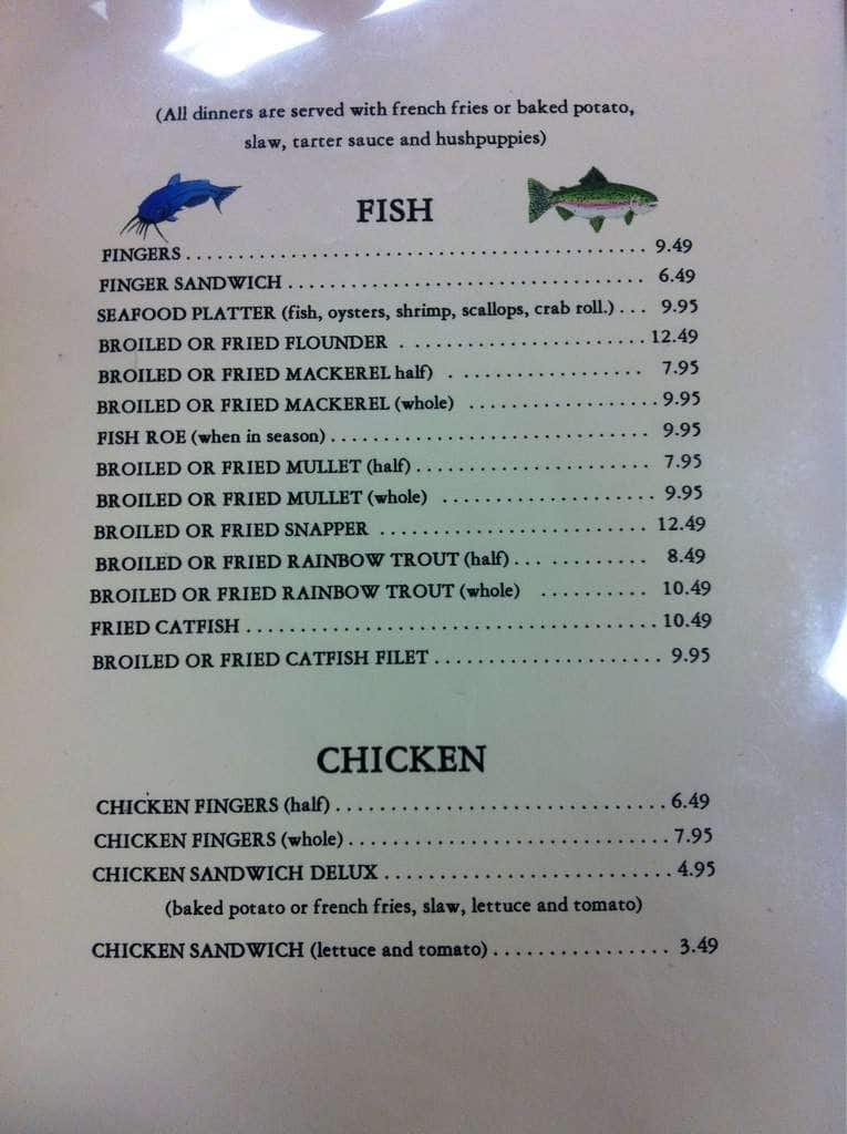 Rose Hill Seafood Co Columbus Menu