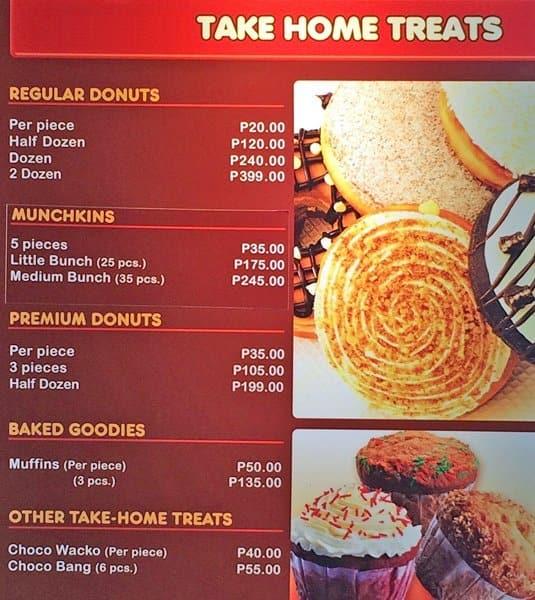 Dunkin Donuts Menu, Menu for Dunkin Donuts, Consolacion ...