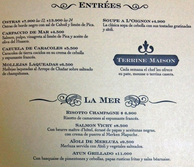Castillo forestal menu men para castillo forestal for Almuerzo en frances