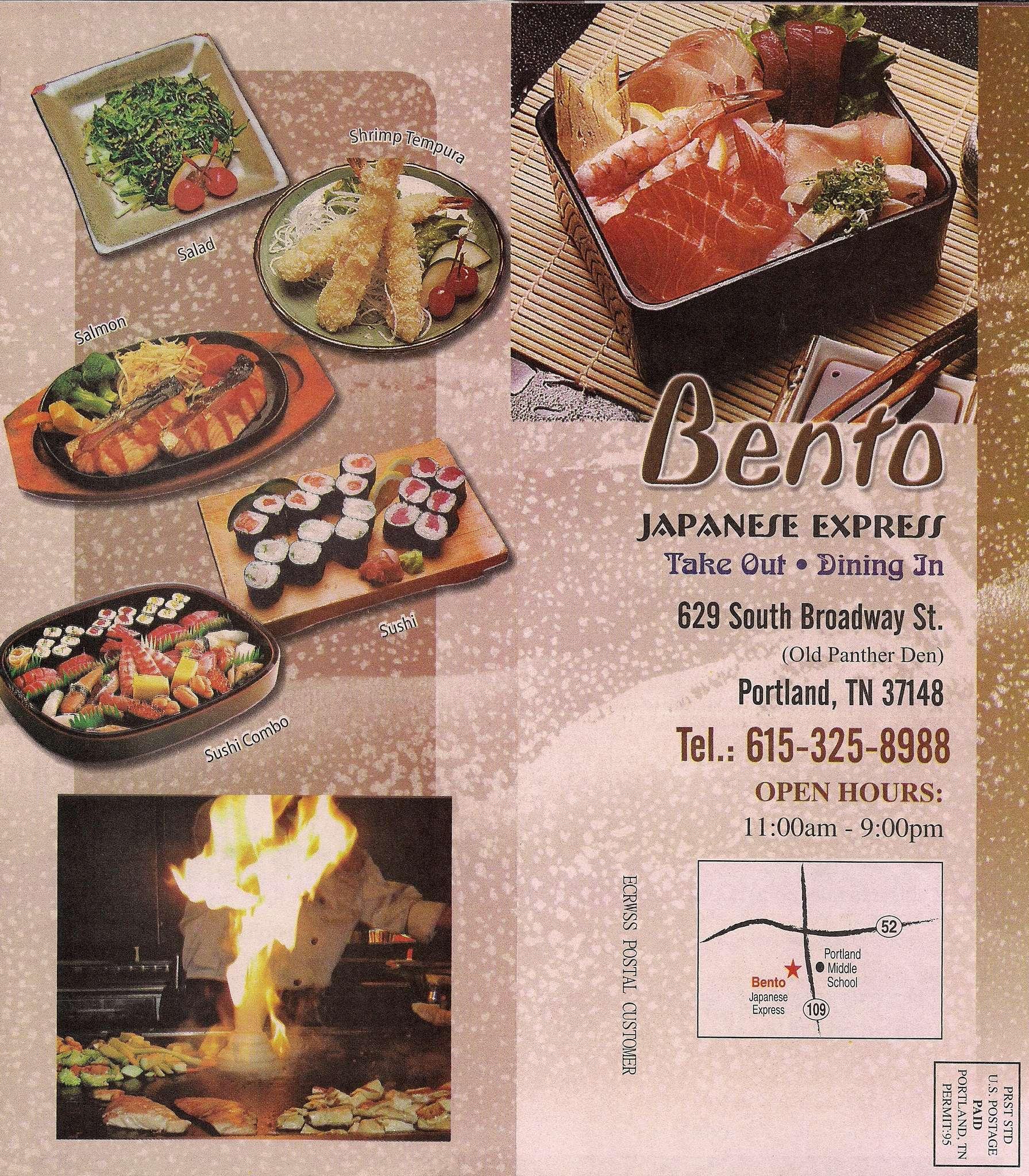 Bento Japanese Express Menu Menu For Bento Japanese Express