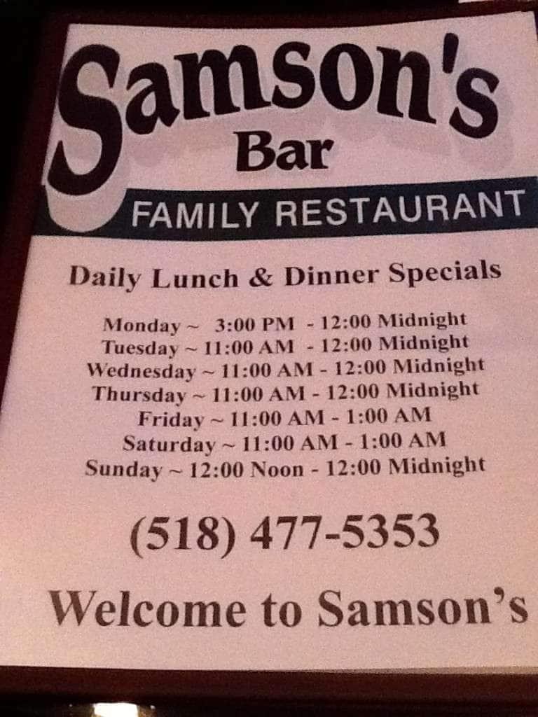 Samson S Menu Menu For Samson S Castleton On Hudson