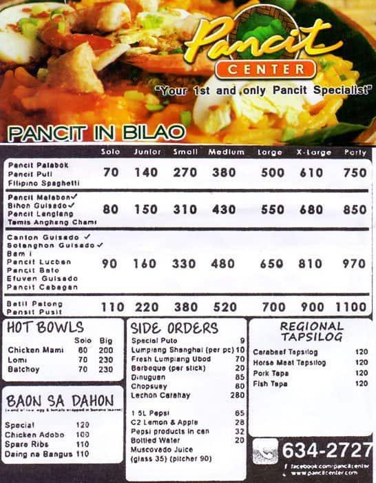 Pancit Center Menu Menu for Pancit Center Kapitolyo  : 319b5bf273a89b3e9072c6b405cfd9cd from www.zomato.com size 546 x 700 jpeg 116kB