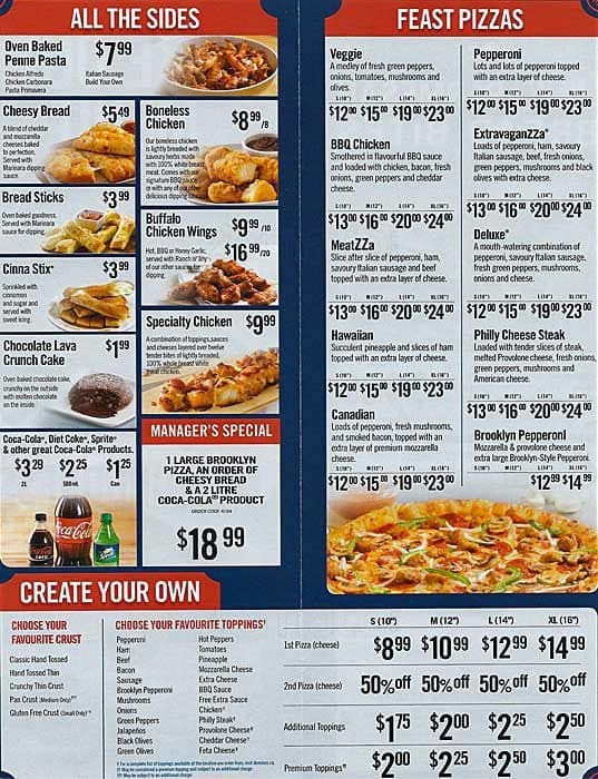 Dominos Menu India Pdf