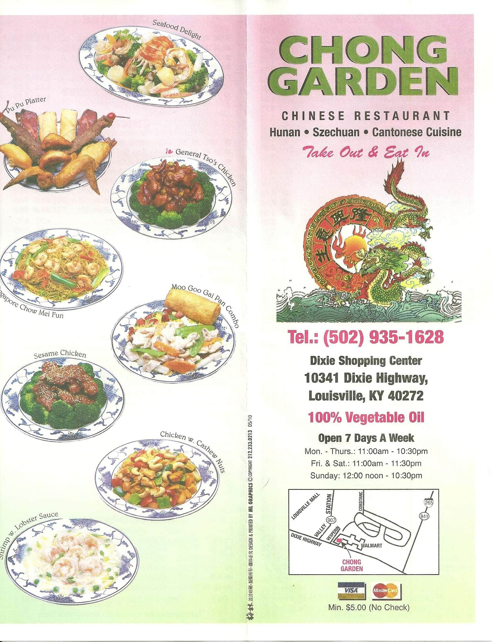 Chong Garden Menu Menu for Chong Garden Valley Station