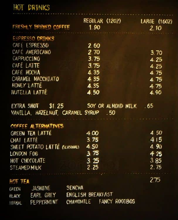 Urban Cafe Menu Prices