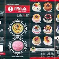 A Wish Cake Cafe Downtown Menu