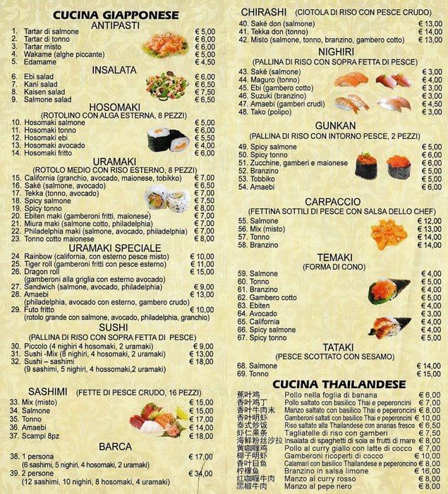 Chopsticks Fusion Restaurant Menu Zomato Italy